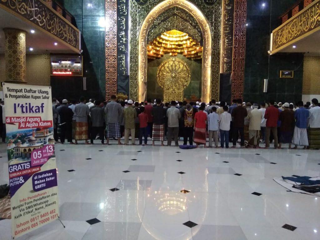 Selenggarakan I'tikaf, Masjid Agung Al Aqsha Klaten Menjadi Pilihan Masyarakat