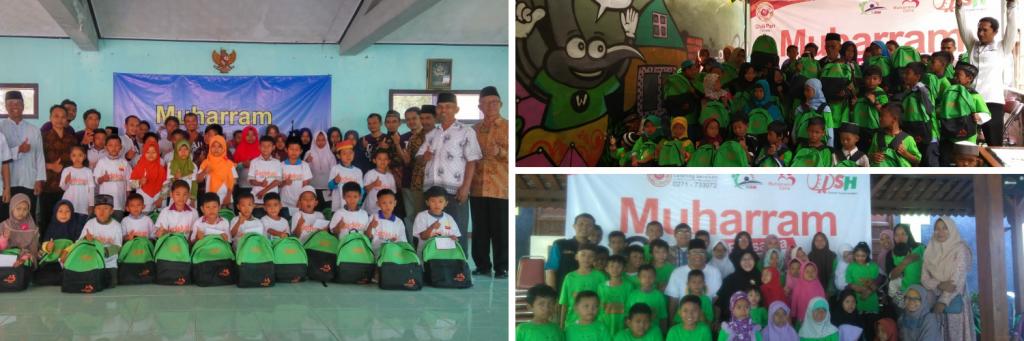 Warna Keceriaan Anak Yatim Piatu Dhuafa di Tiga Kota