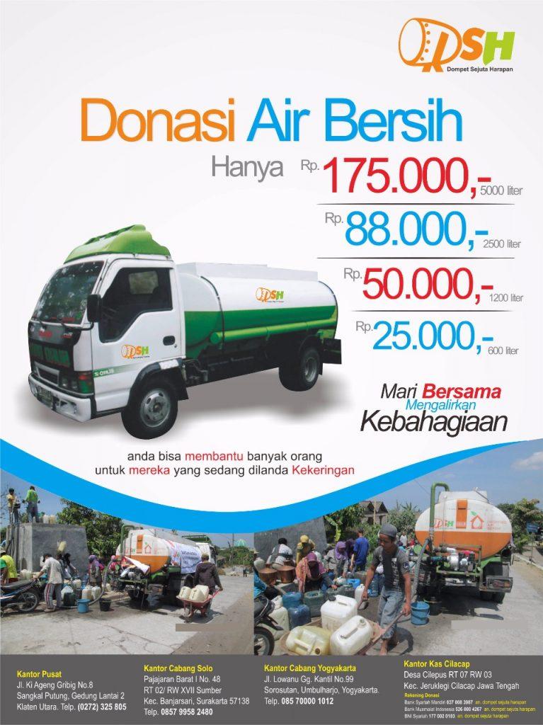 [Dropping Air] Bantuan Air Bersih untuk Daerah Kekeringan